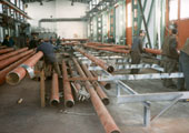 Production of pipe elements for construction at Munich Airport, production plant Chomutov, Czech Republic 1