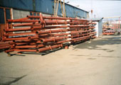 Production of pipe elements for construction at Munich Airport, production plant Chomutov, Czech Republic 2